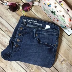 Gap always skinny coupe toujours button fly sz 12